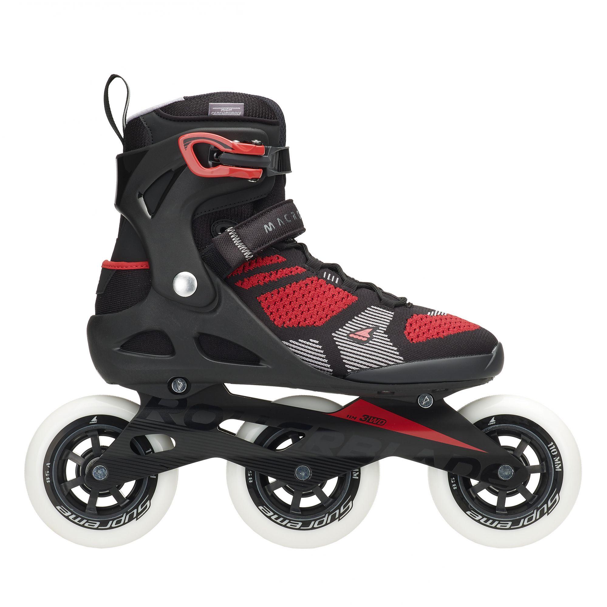 Rollerblade Macroblade 110 3WD Inline Skates - Black / Red - 40