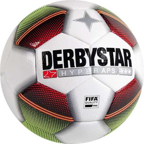 Derbystar Hyper APS Football Tamaño 5 - Blanco / Rojo / Verde