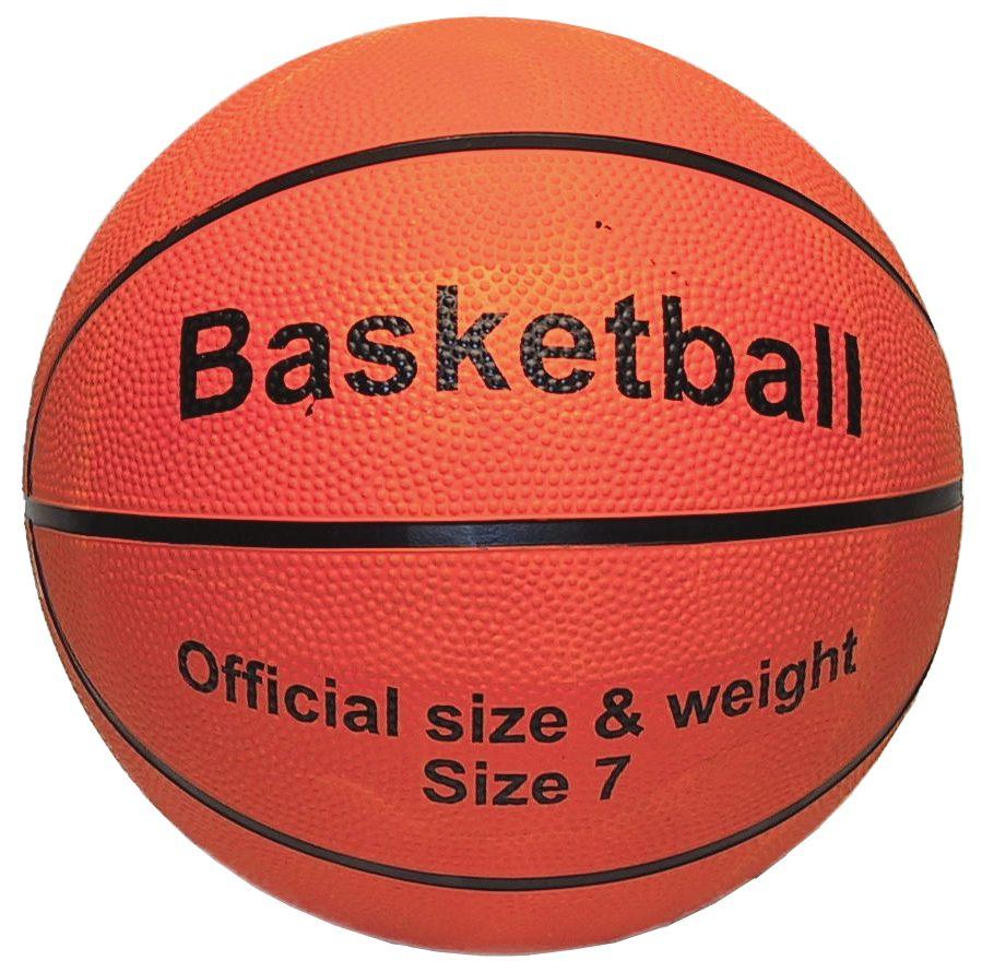 Image of   Basketball med basketball Print - størrelse 7 - Gummi - Orange