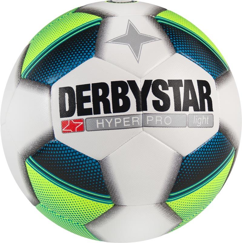Derbystar Hyper Pro Light Football Tamaño 4 - Blanco / Amarillo / Azul