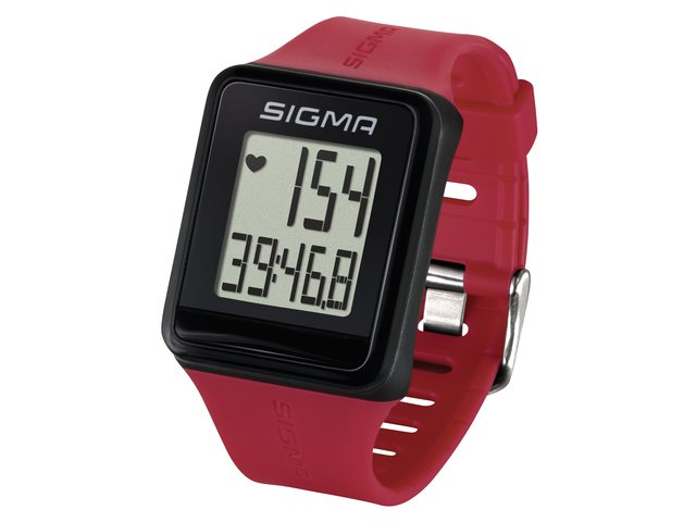 Image of   Sigma iD.GO Sports Watch - Black / Red