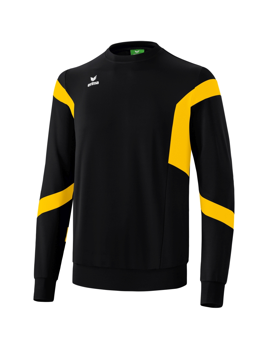 Erima Classic Team Sweatshirt Senior - Zwart / Geel - L