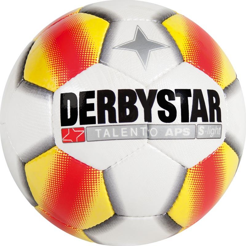 Derbystar Talento APS S-Light Football Junior Tamaño 4 - Blanco / Amarillo / Rojo