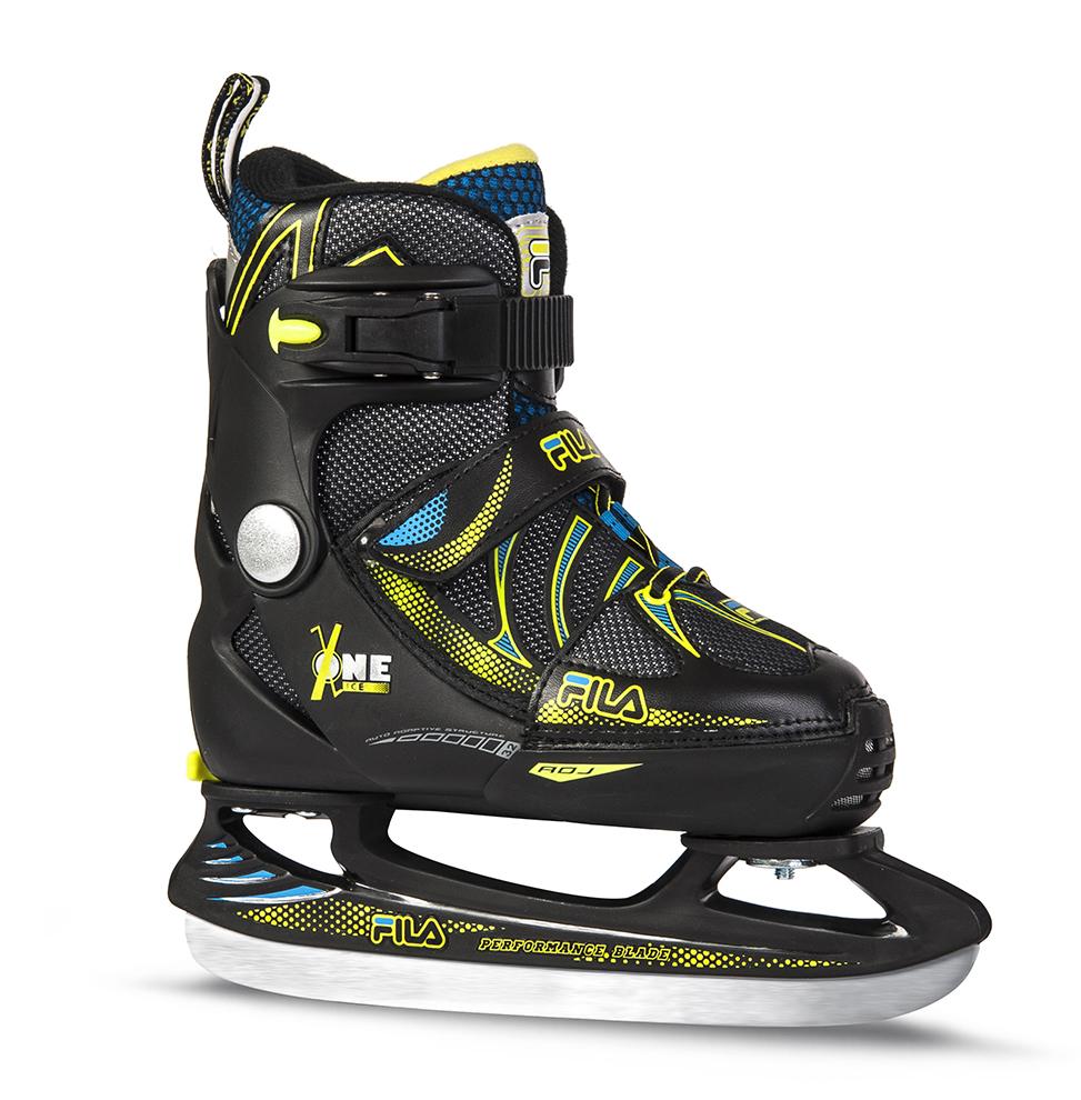 Image of   Fila X One Ice Hockey Skate Justerbar Boy - Sort / Grøn - L