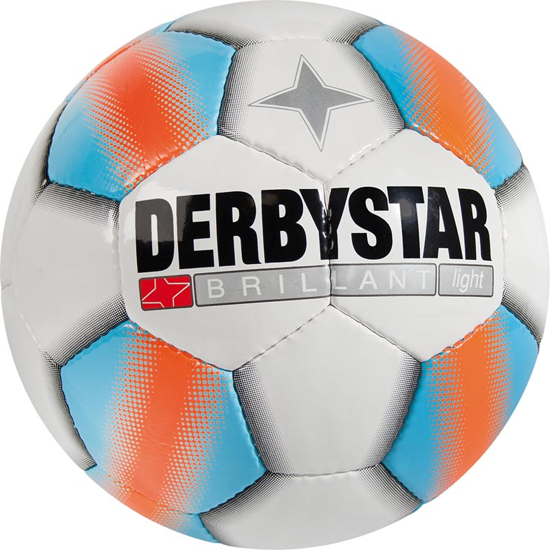 Derbystar Brillant Light Football Tamaño 5 - Blanco / Azul / Naranja
