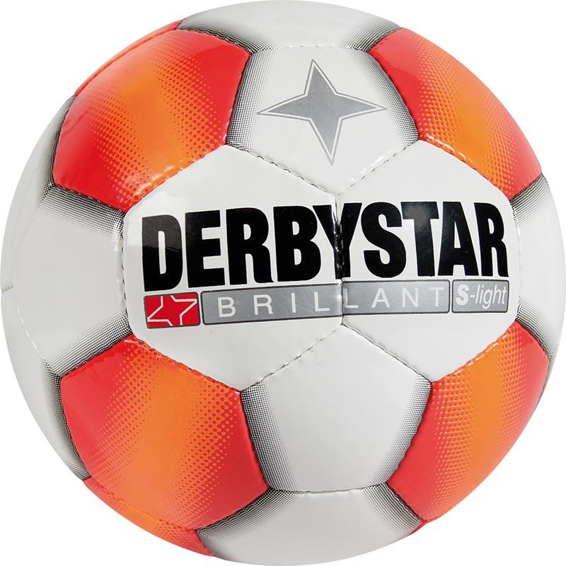 Derbystar Brillant S-Light Football Tamaño 4 - Blanco / Rojo / Naranja