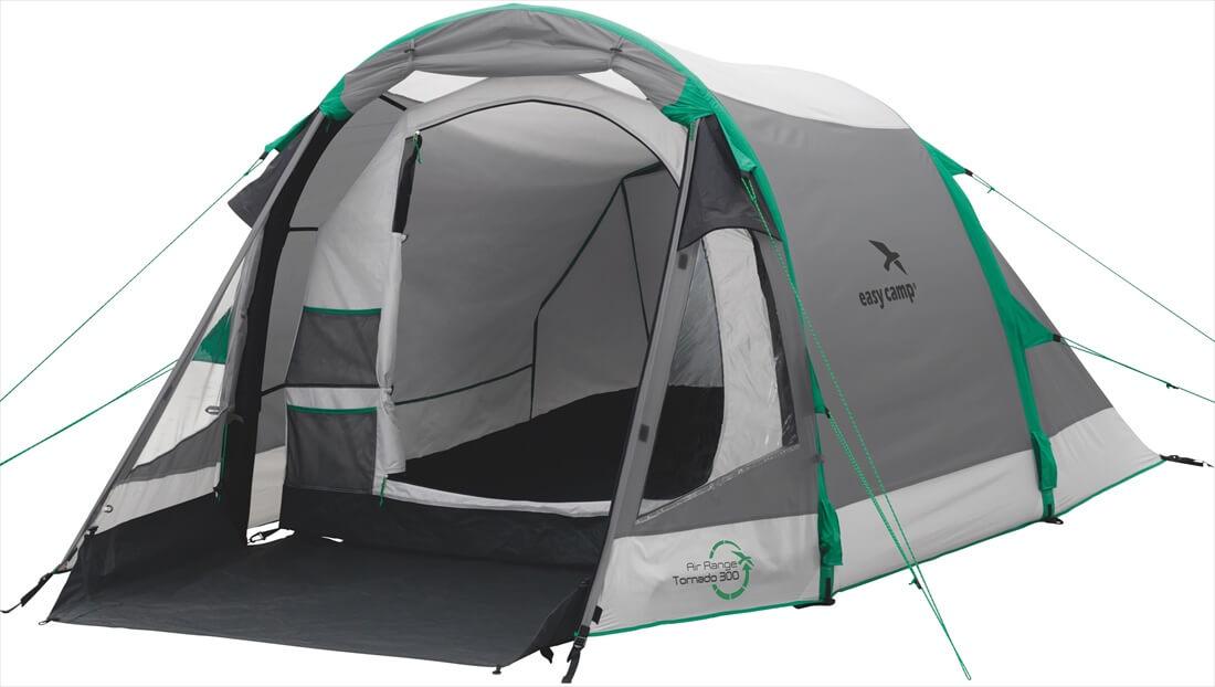 Image of   Easy Camp Tornado 300 Tent - Grey / Grøn