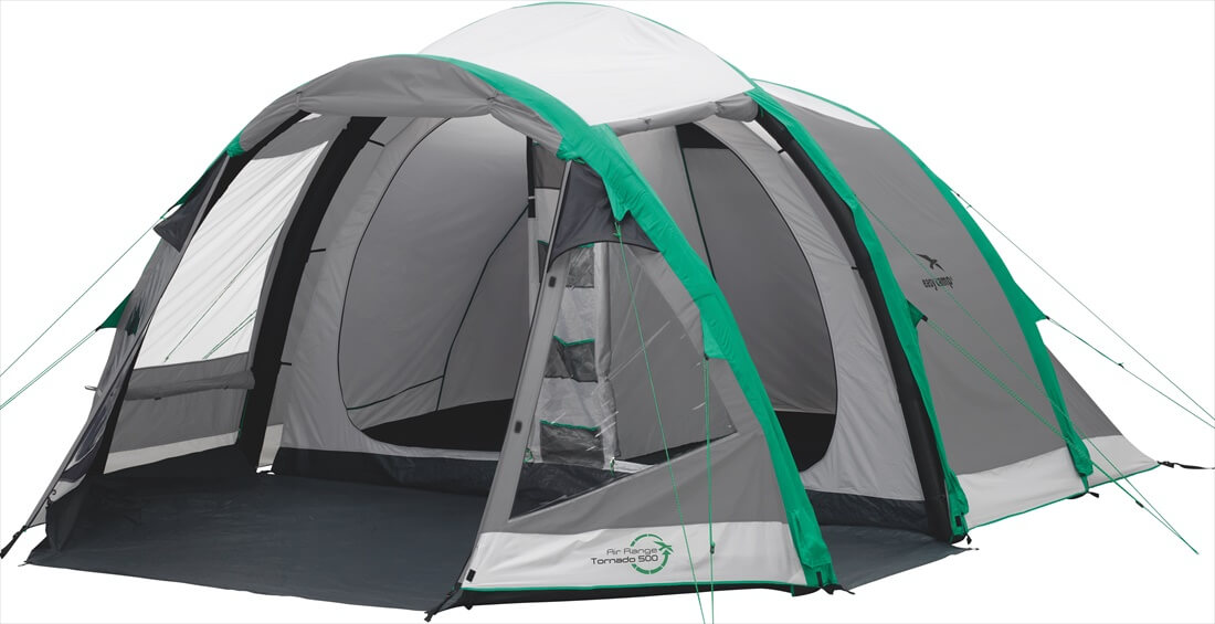 Image of   Easy Camp Tornado 500 Tent - Grey / Grøn