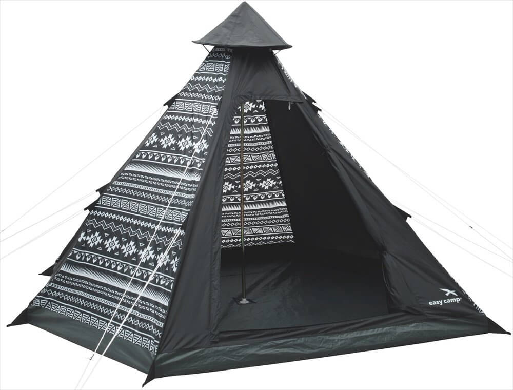 Easy Camp Tipi Tribal Tent - Zwart - Wit