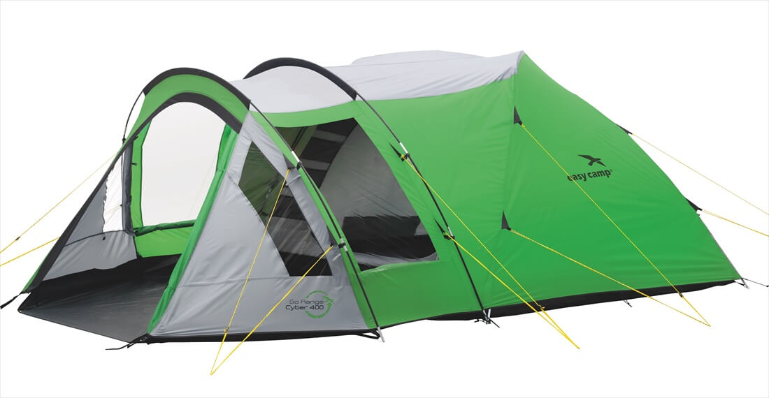 Image of   Easy Camp Cyber 400 Tent - Grøn / Grey