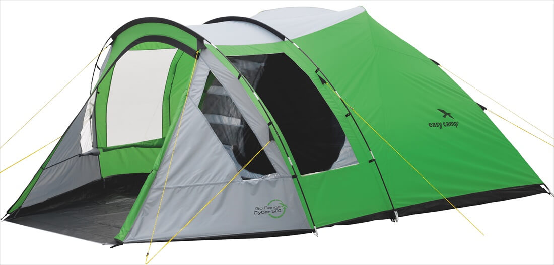 Image of   Easy Camp Cyber 500 Tent - Grøn / Grey