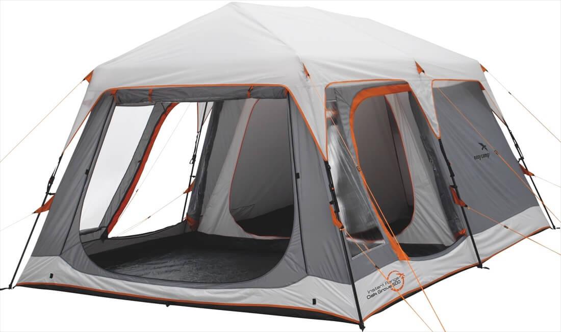 Image of   Easy Camp Oak Grove 500 Tent - Grey / Orange