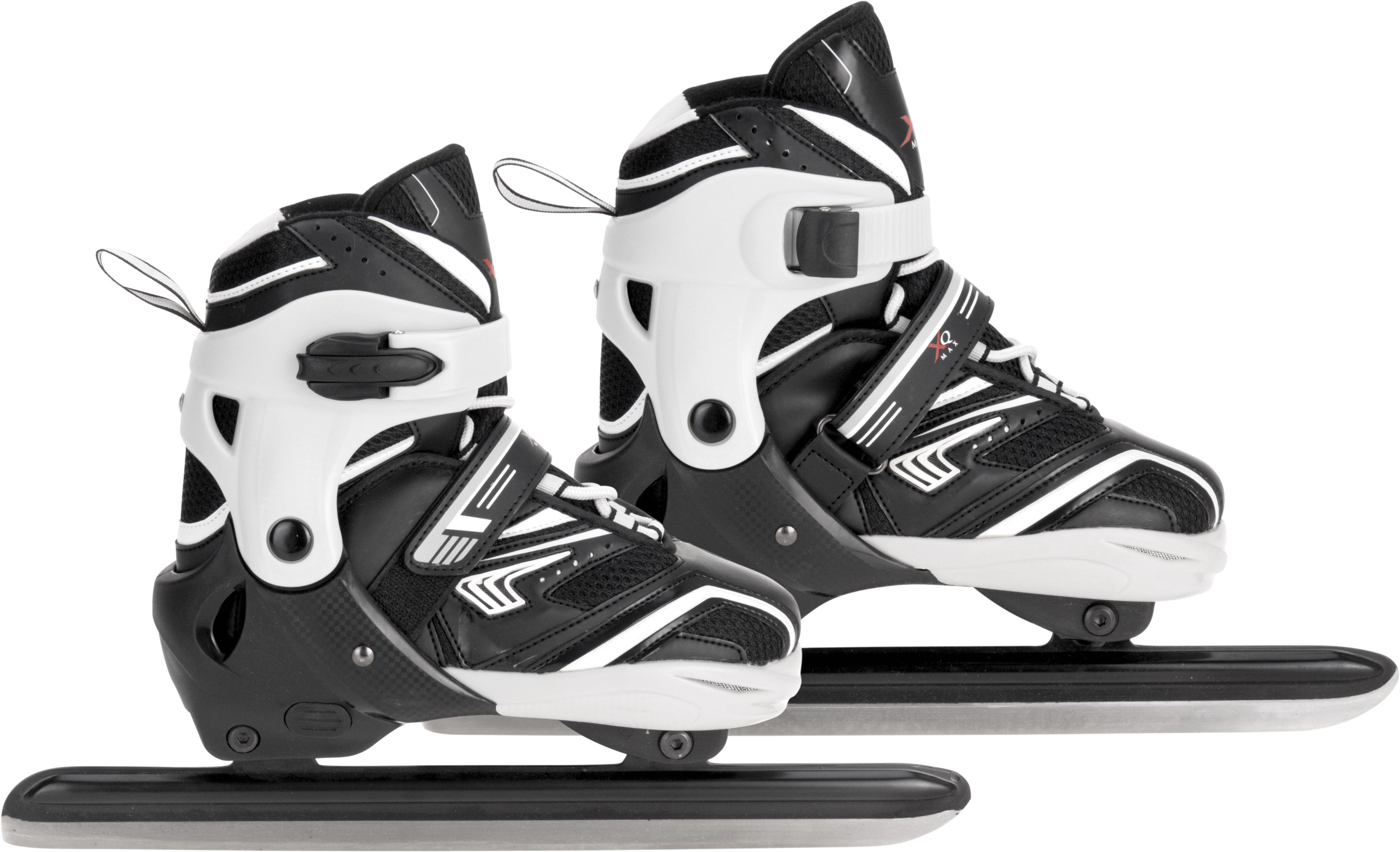 Image of   XQ Max Nordic Ice Skates - Black / Grey / White