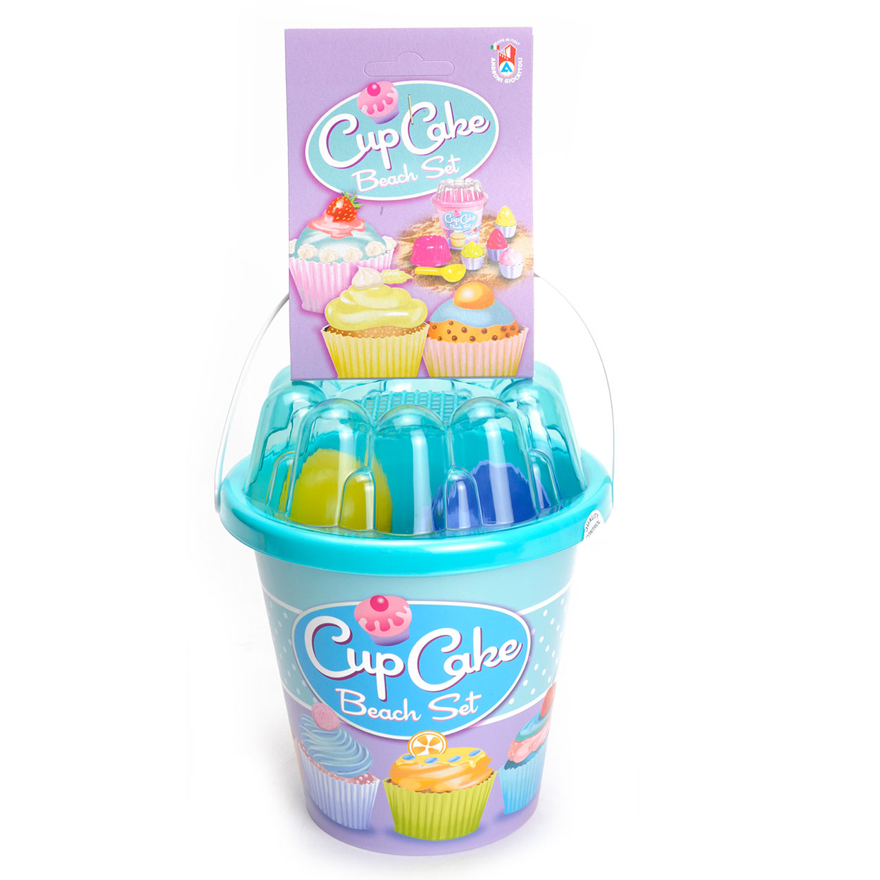 Image of   Cup Cake Beachset i Bucket - Blå