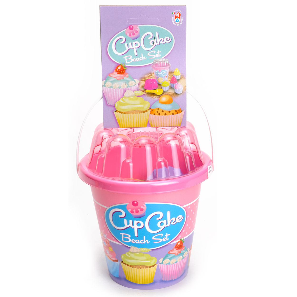 Image of   Cup Cake Beachset i Bucket - Pink
