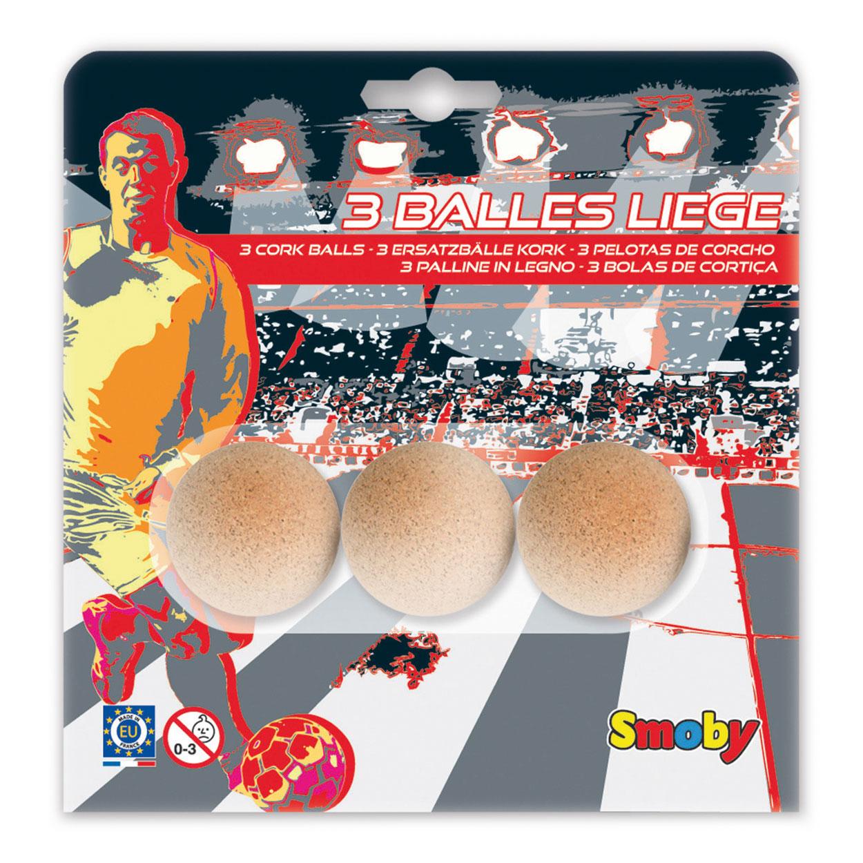 Image of   Smoby Foosball Balls Cork - 3 stk