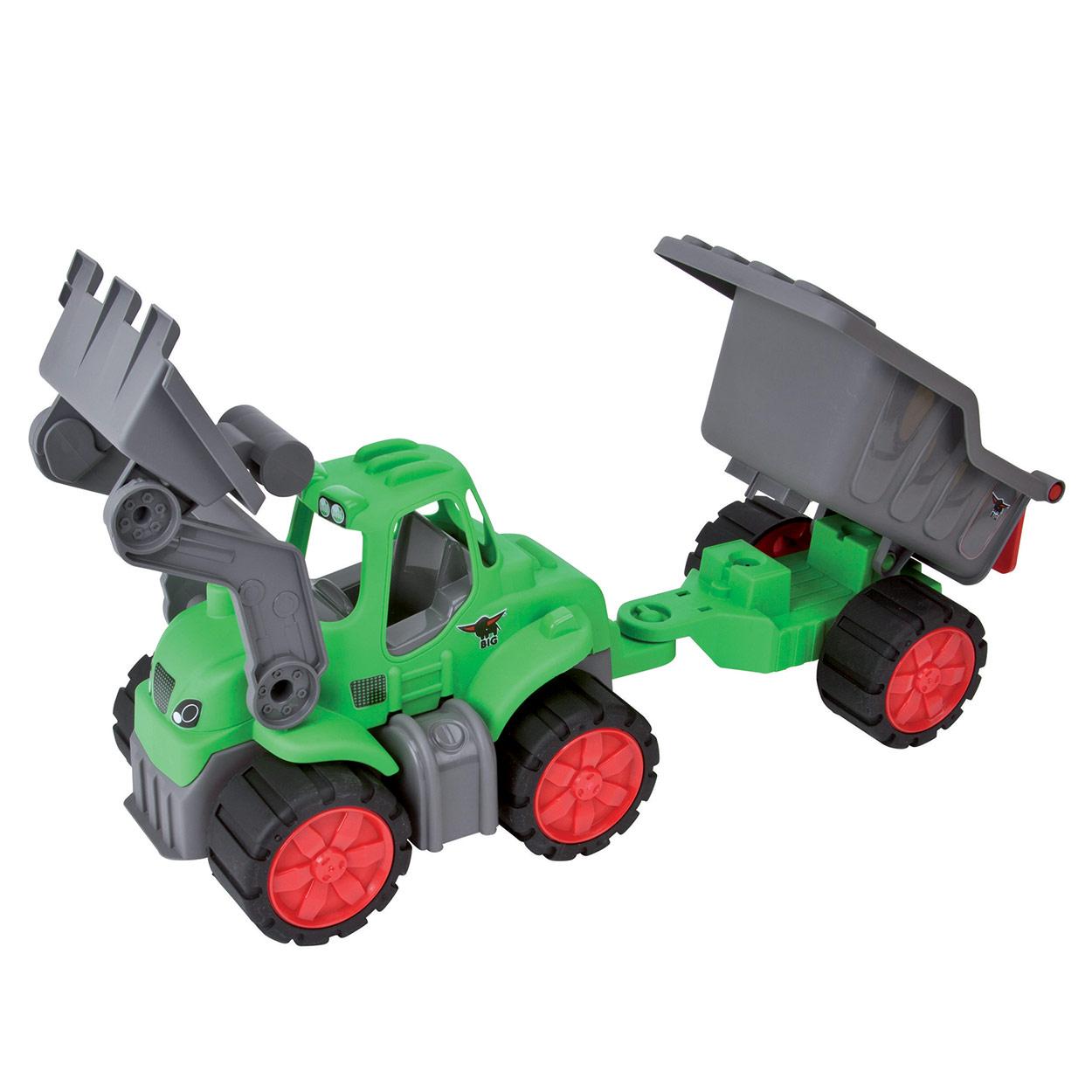 Image of   BIG Power Worker Traktor med Trailer