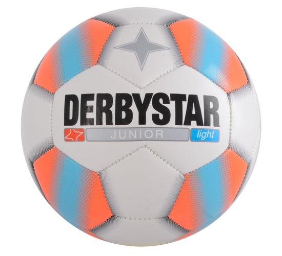 Derbystar Light Football Junior Tamaño 5 - Blanco / Naranja