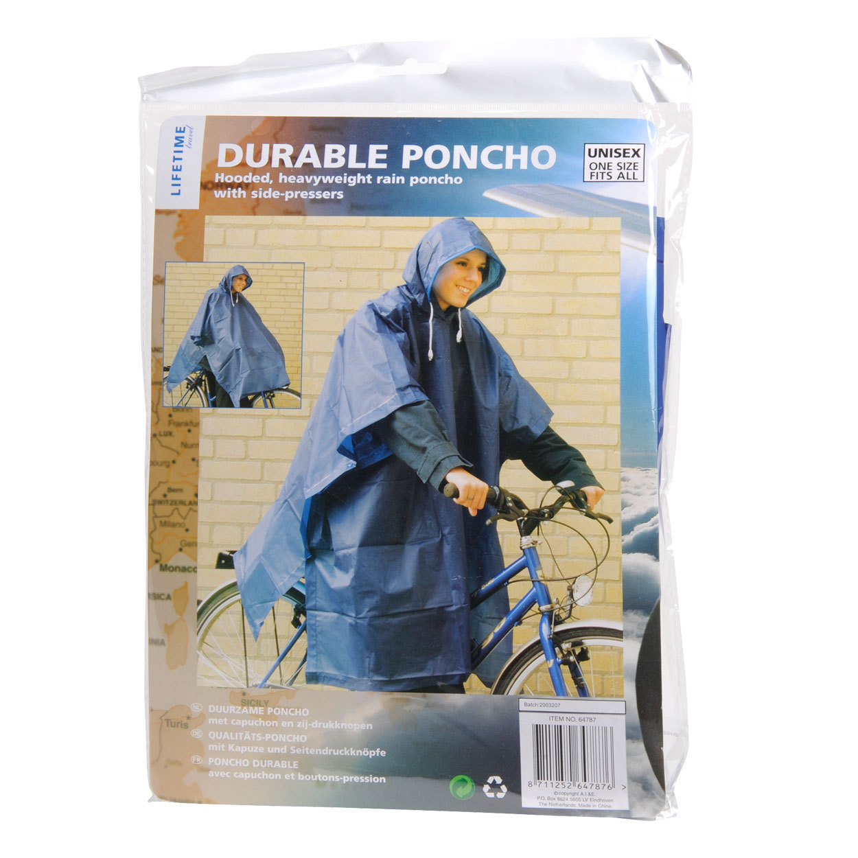 Image of   Poncho og Hood Holdable
