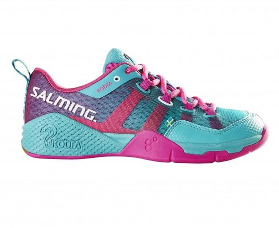 Image of   Salming Kobra Women Indoor Shoes - Turquoise / Pink