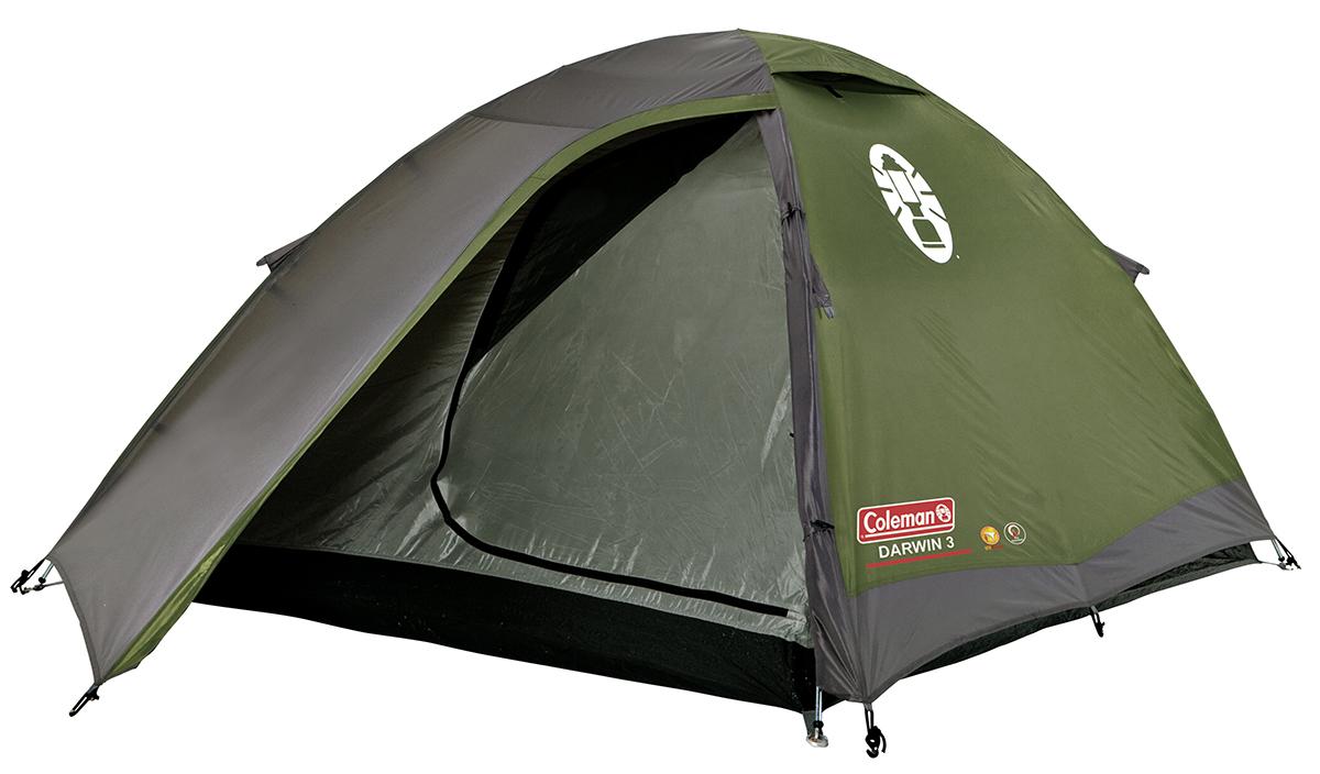 Coleman Darwin 3 Koepel Tent - Groen/Grijs