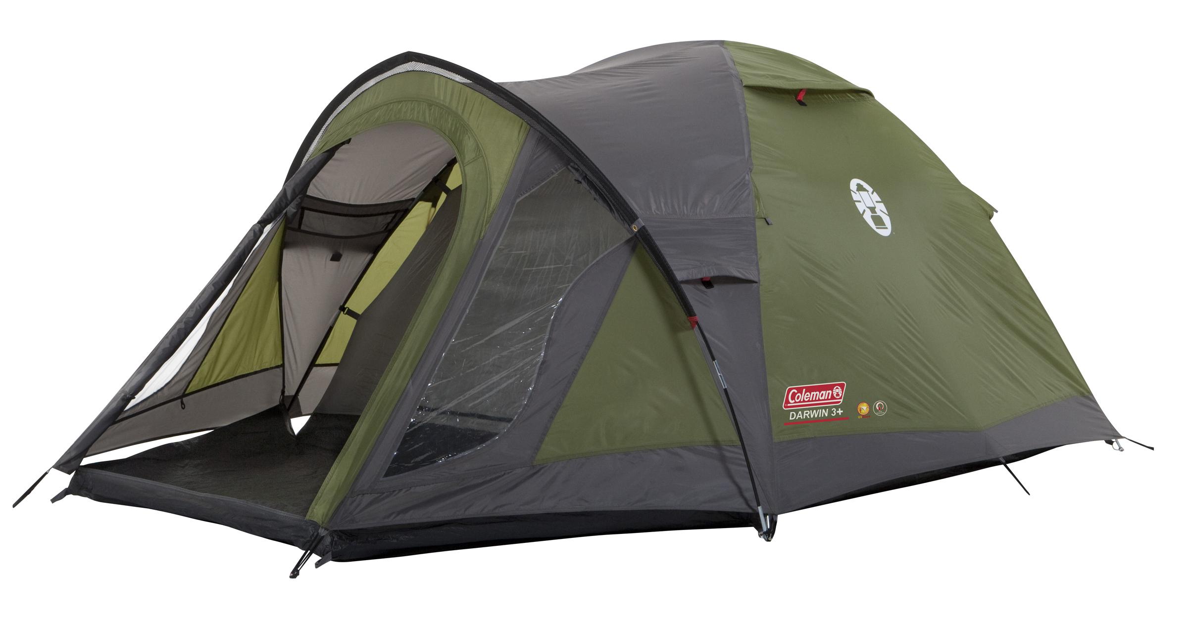 Coleman Darwin 3+ Koepel Tent - Groen/Grijs