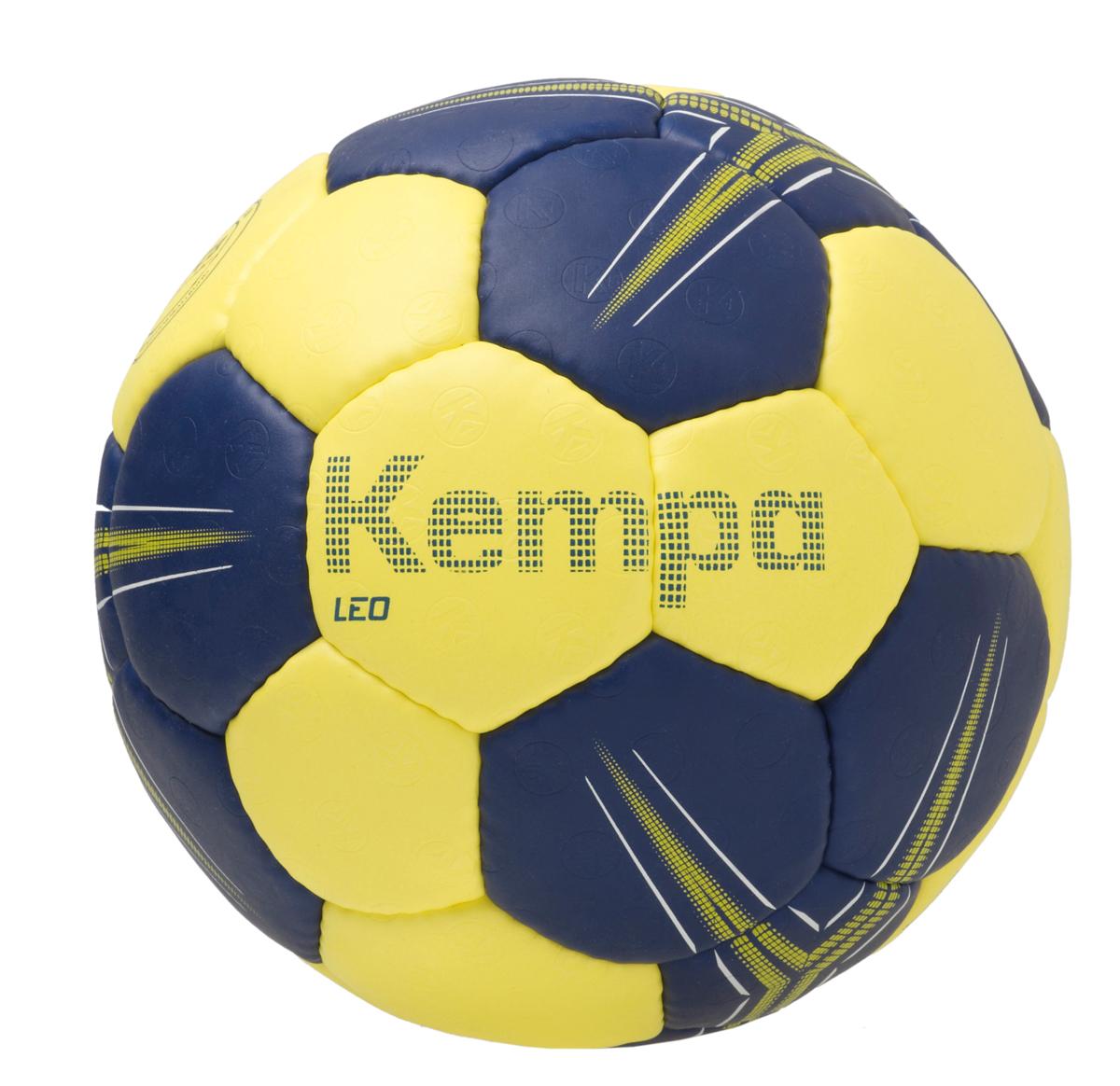 Image of   Kempa Leo Basic Profile Handball - Størrelse 1 - Deep Blue / Lime Yellow