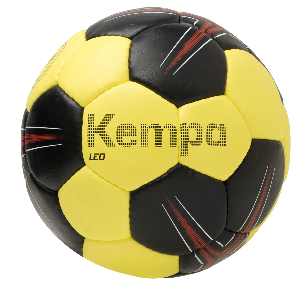Image of   Kempa Leo Handball - Størrelse 1 - Black / Lime Gul / Rød