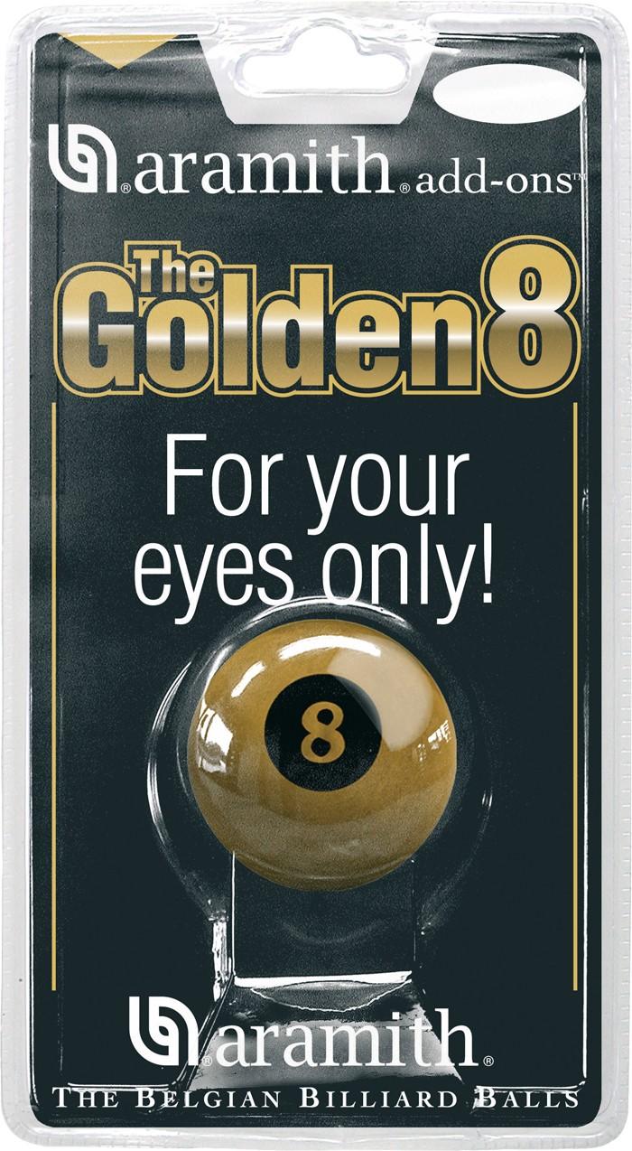 Image of   Aramith Loose Pool Golden 8 Ball 57.2mm