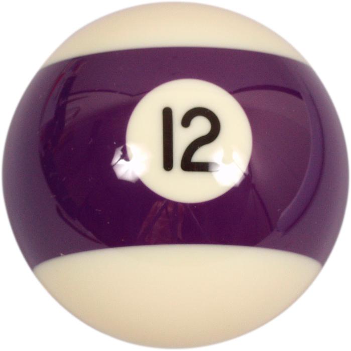 Image of   Aramith Number 12 Ball til Pool - 57,2 mm