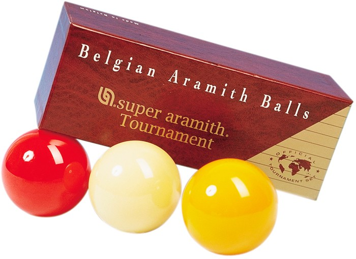 Image of   Aramith Super Tournament carom Ball Set 61.5mm