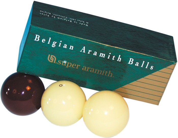 Image of   Aramith Super Dark Red carom Ball Set 61.5mm