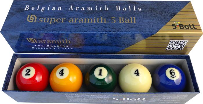 Image of   Aramith Super 5-Ball Billiard Set - 61,5 mm