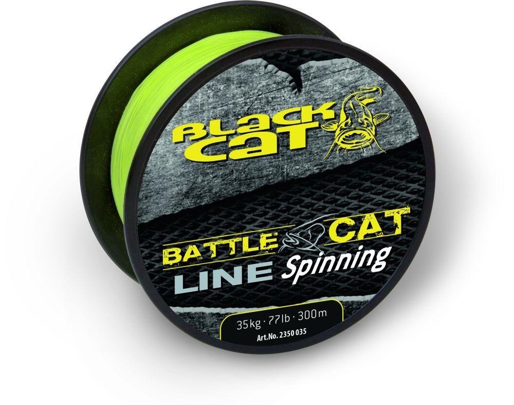Image of   Black Cat Battle Cat Linje Spinning - 300 m - Ø 0,35 mm - 77 lb - Gul