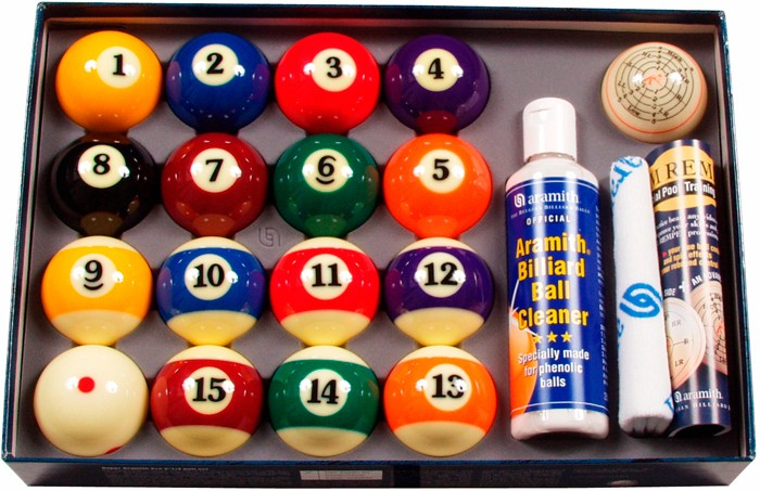 Image of   Aramith Value Pack Pool Ball Set 57.2mm