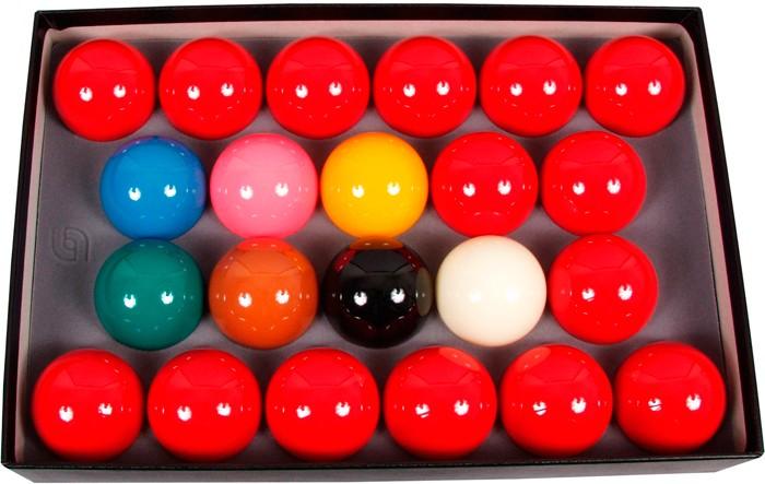 Image of   Aramith Super Crystalate Snooker Set 52.4mm
