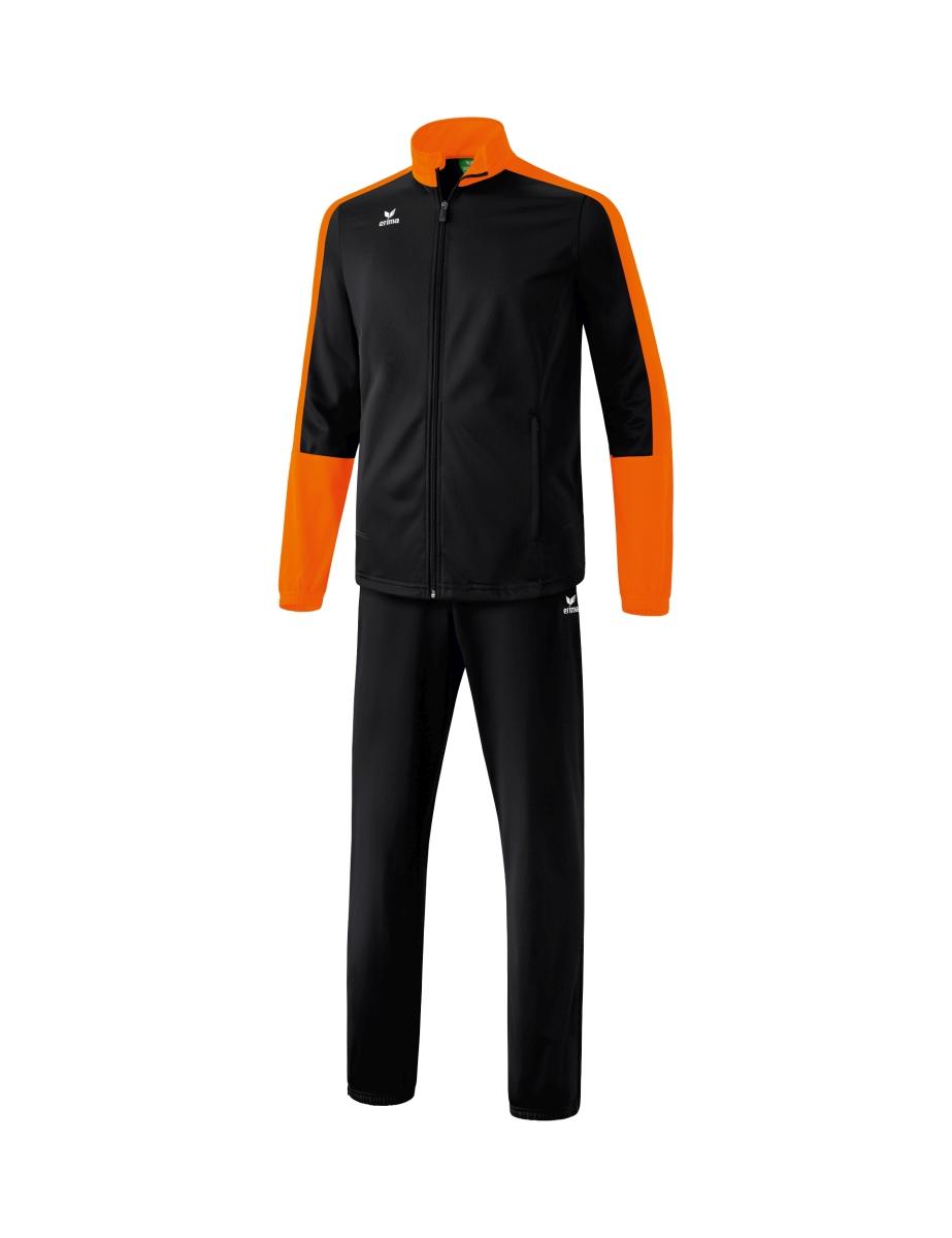 Image of   Erima Toronto 2.0 Polyester Tracksuit Senior - Black / Orange