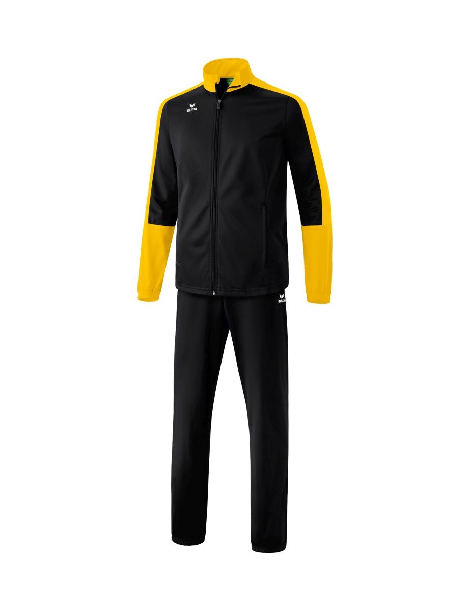 Image of   Erima Toronto 2.0 Polyester Tracksuit Junior - Black / Gul