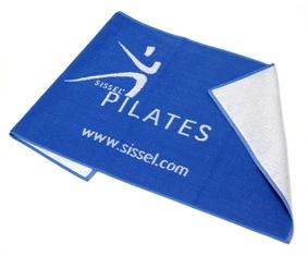 Sissel Pilates Håndklæde - Blå / Hvid