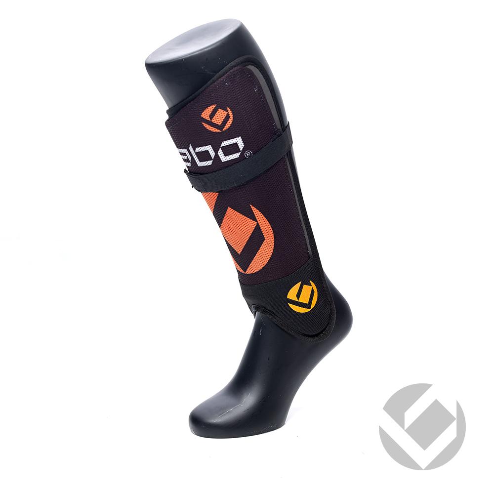 Image of   Brabo F1 Shinguard Vaskbar - Black / Orange