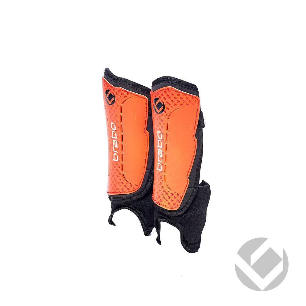 Image of   Brabo F4 Shinguard Removable Ankle Metalic - Orange
