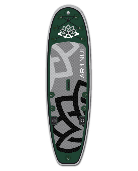 """Image of   Ari'Inui Phisher SUP bord Oppustelige - 10'2"""" - Forest Green / Forest Green"""