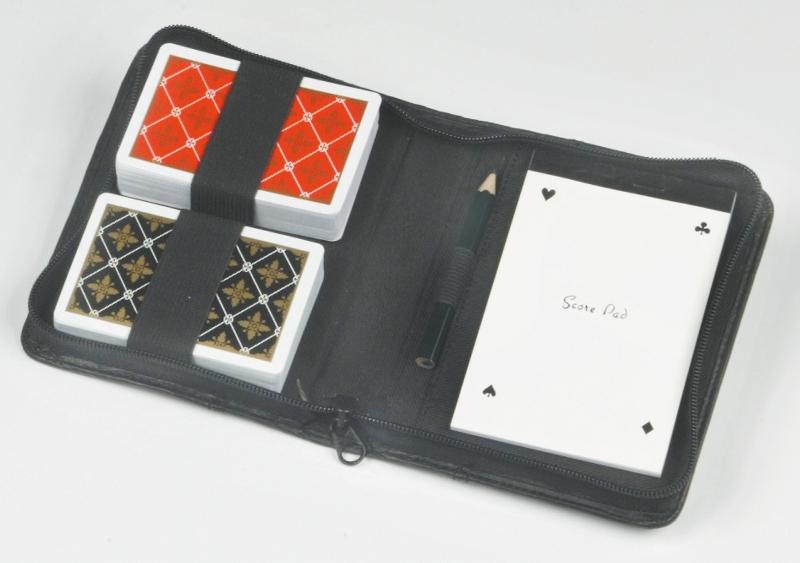 Image of   Longfield spillekort i tilfælde 2 spil dæk, notesblok og blyant