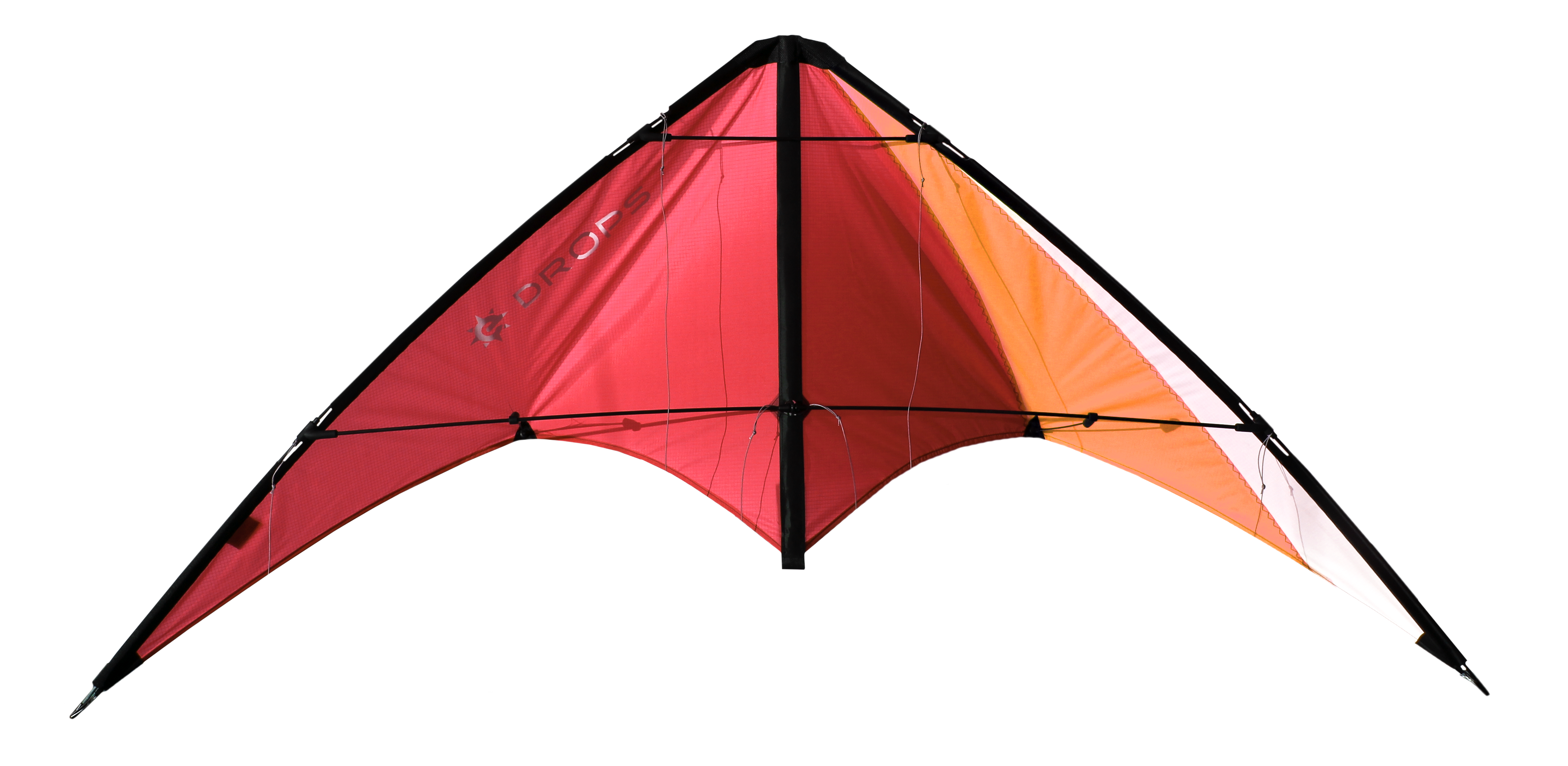 Image of   Elliot Drops Kite - Rød / hvid
