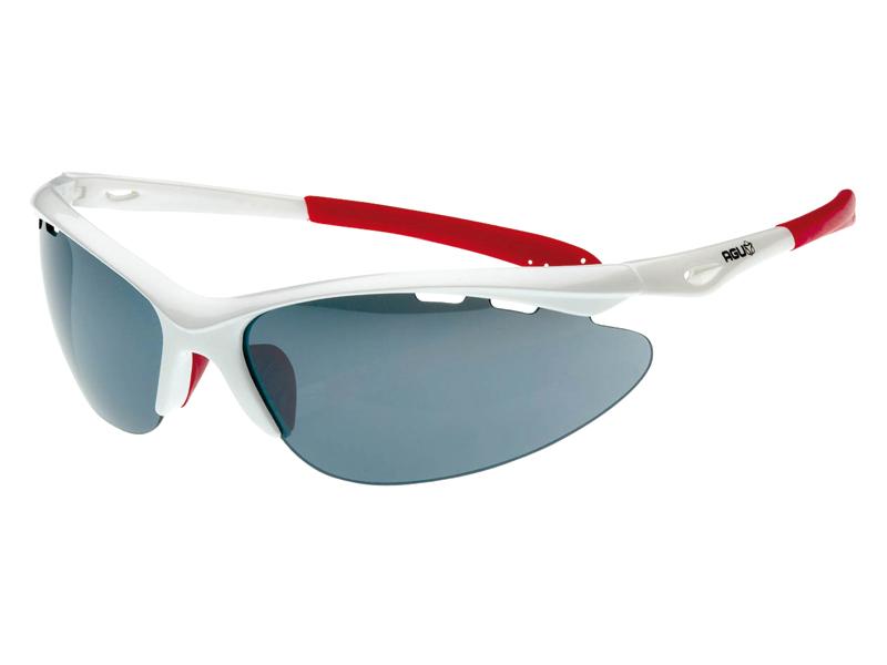 Image of   AGU Takatsu briller hvid med røg / trans / orange linser