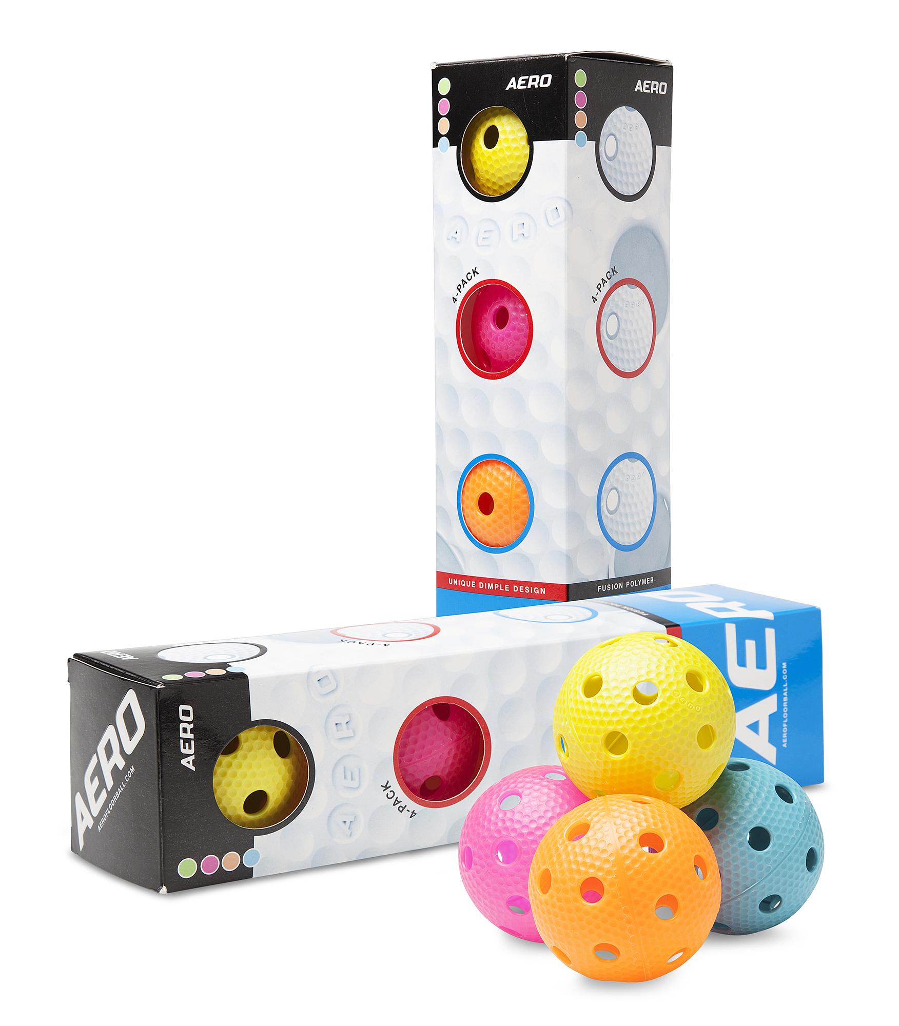 Image of   Salming Aero Floorball 4-pack - Multicolor