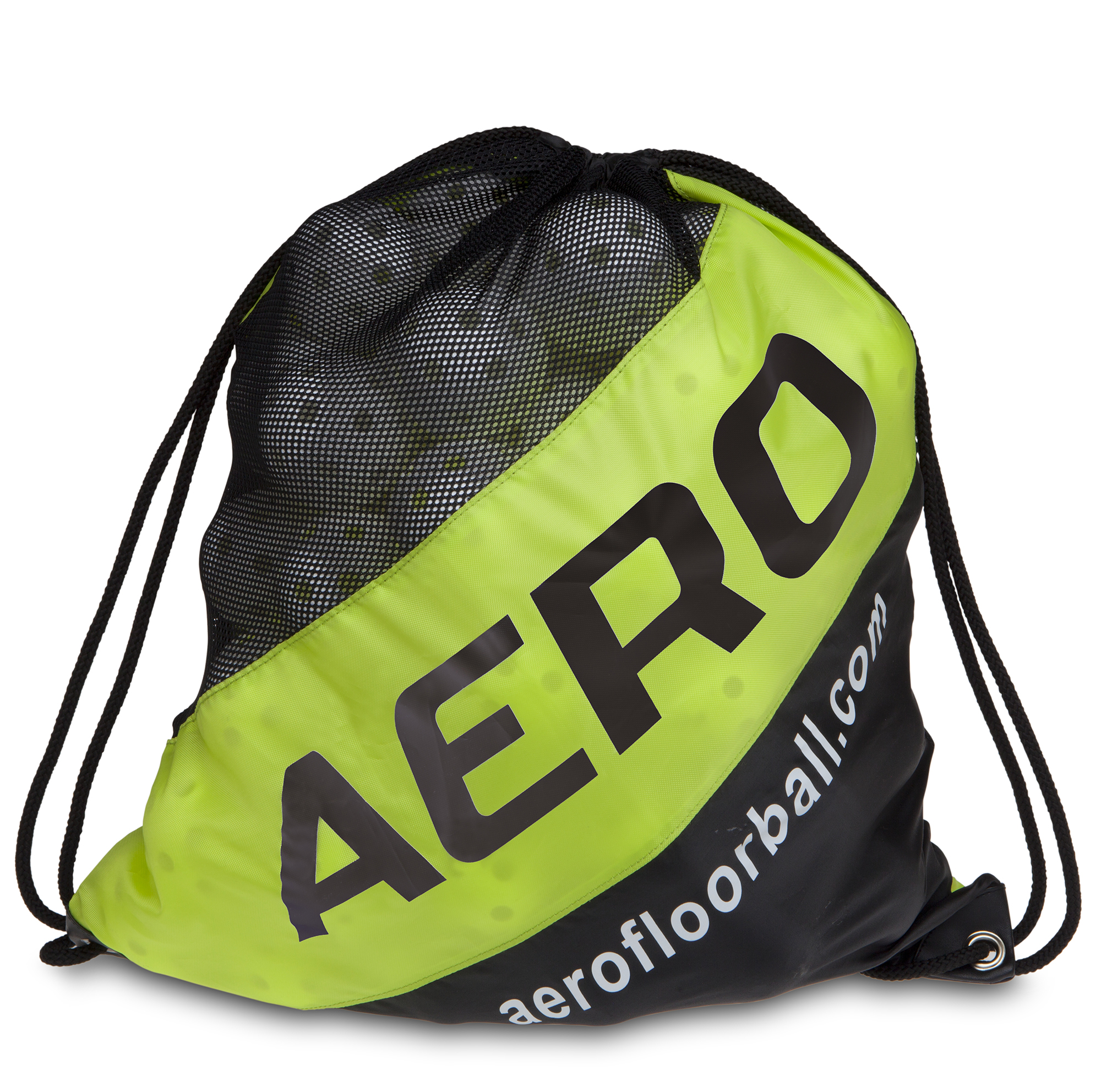 Image of   Salming Aero Ball Sack 80 stk - Sort / Fluo Gul