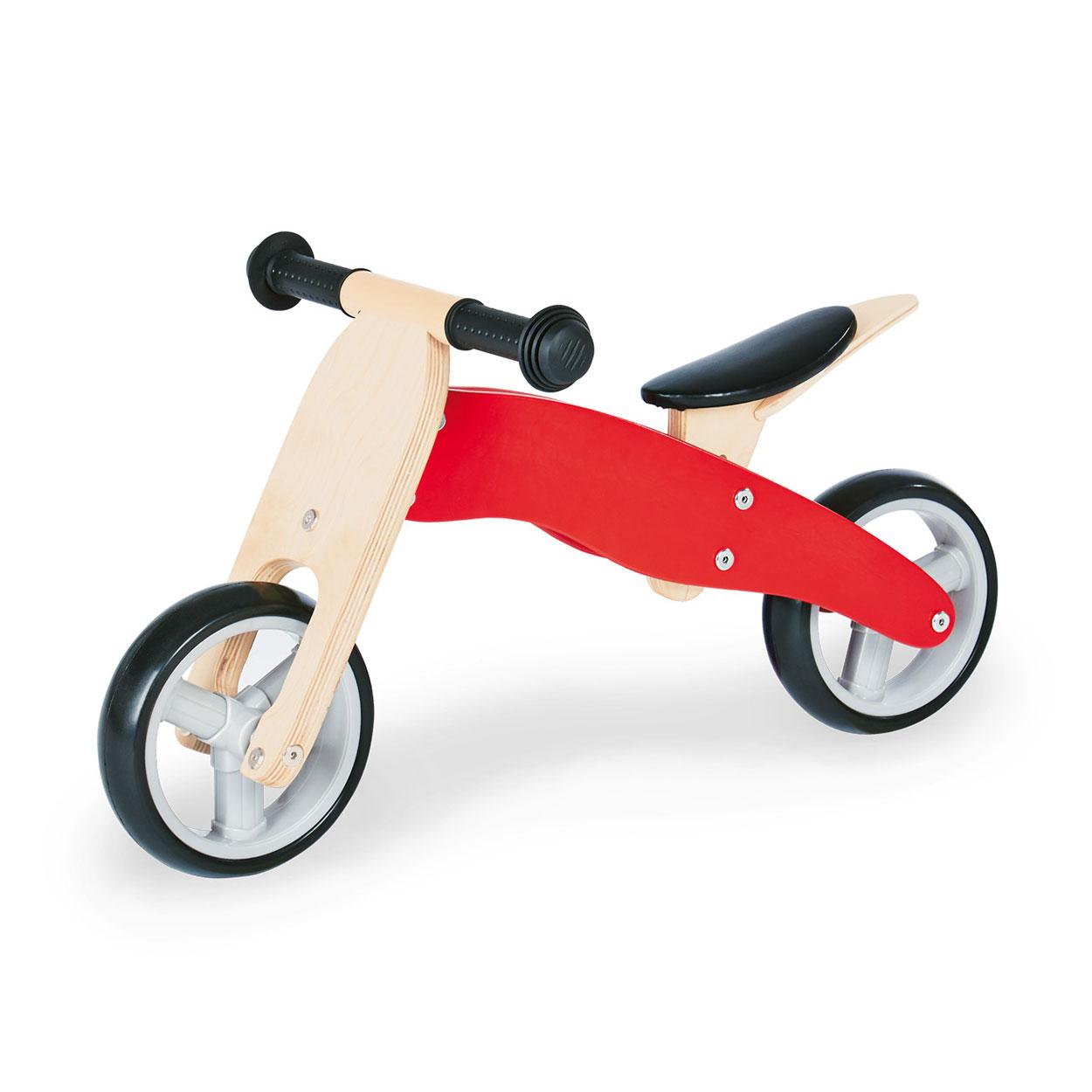 Image of   Pinolino Wooden Walking Bike Charlie 4 i 1 - Rød