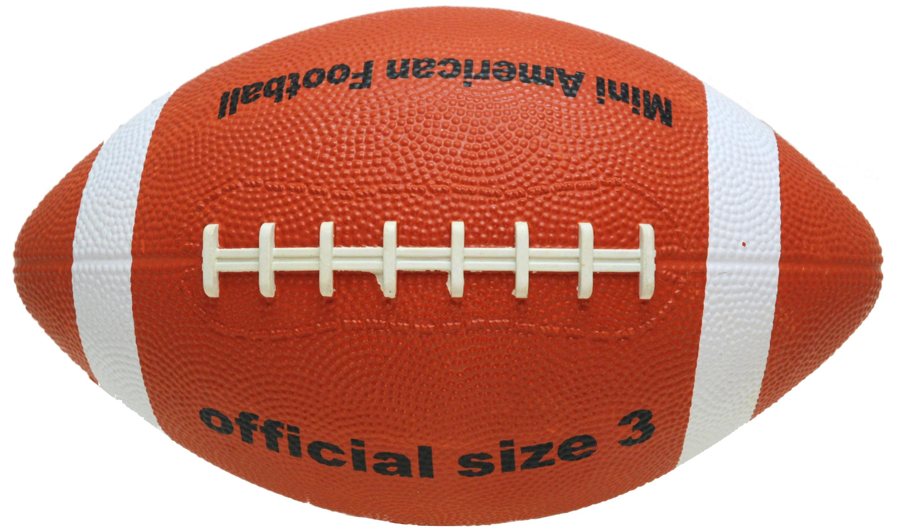 Image of   Mini Gummi American Football - Størrelse 3 - 22 cm - Brun / Hvid