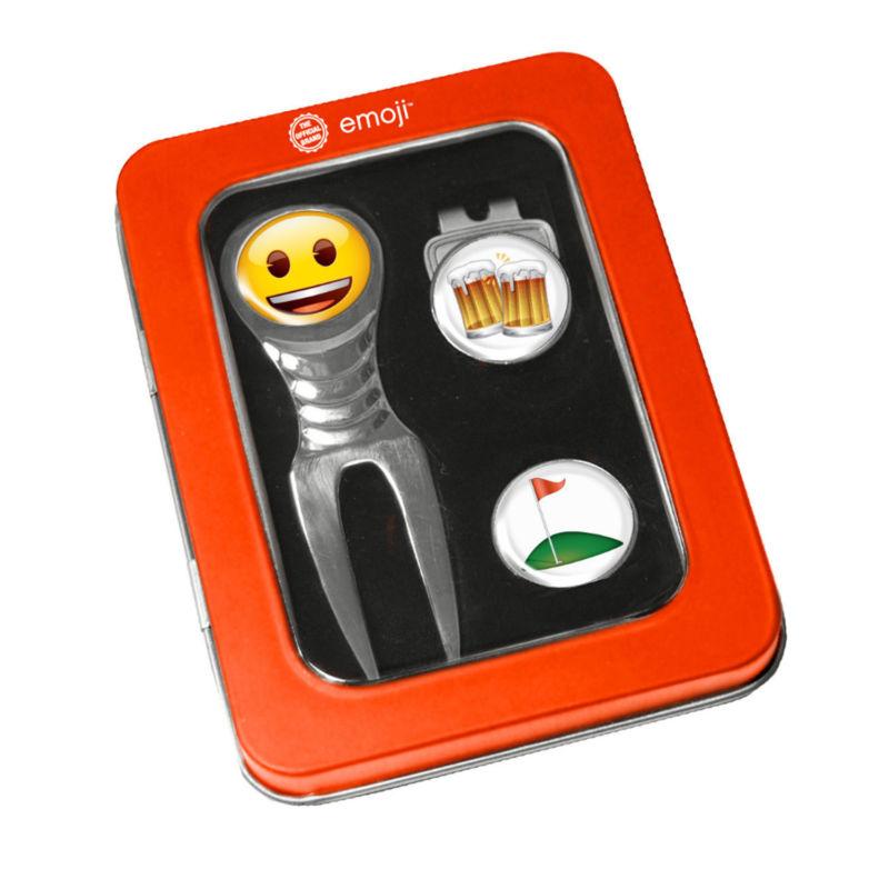 Emoji Divot Tool Giftset Beer and Golf